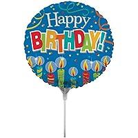 Creative Converting air-filled誕生日キャンドルバルーンスティックとジョイナ18、インチ、ブルー