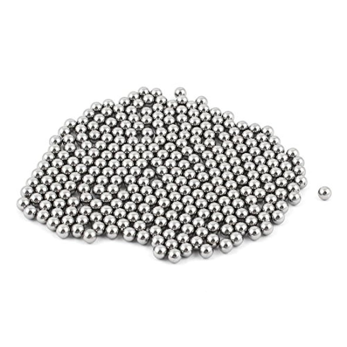 経営者真実アウターuxcell 鋼球 自転車 ベアリング鉄ボール バイク交換部品 鉄製 交換部品 シルバートーン 270 x 5.55mm 270個