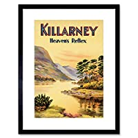 Travel Killarney Ireland Heavens Reflex River Scenic Beauty Art Framed Wall Art Print 旅行アイルランド川風景壁