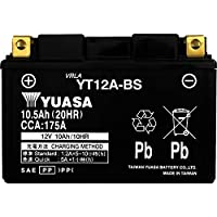YUASA 台湾 ユアサ バイク用 バッテリー 液入り 充電済み (YT12A-BS)