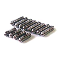 【国産品】 ミリ規格弦高調整イモネジ ステンレス製 (M3-8mm(4P)+10mm(8P)12本入り)