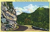 GREAT SMOKY MTS国立公園、TN–煙突のビューのトップスからNewfoundギャップHwy 9 x 12 Art Print LANT-24042-9x12