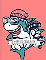 Shark Coloring Book: Coloring Toy Gifts for Kids, Toddlers or Adult Relaxation |  Large Print Ocean Animals Birthday Party Favors Gifts Made in USA