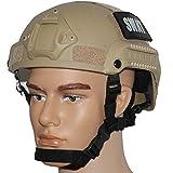 OneTigris サバゲーヘルメット MICH 2001 米軍レプリカ装備 NVGマウント・サイドレール付き 防災・作業・コスプレ・軍用などに (ブラウン)