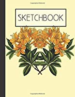 Sketchbook: Yellow Flower Floral 200 Page Sketchbook: Artist Edition (8.5x11)