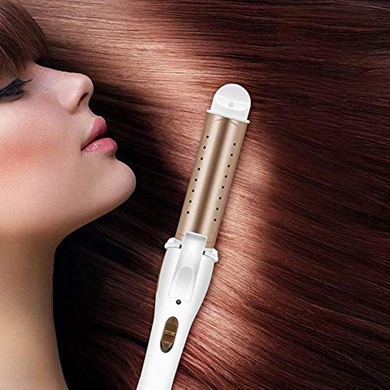 愛情懐疑論設置電動カーリングアイロンストレートロール兼用合板ホットストレートヘアサロンヘアストレートバークリップ大容量バックル前髪前髪,金