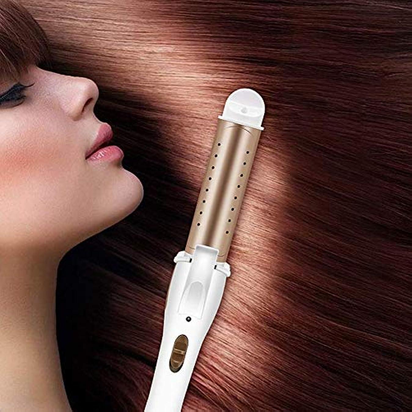 回転させる灌漑満了電動カーリングアイロンストレートロール兼用合板ホットストレートヘアサロンヘアストレートバークリップ大容量バックル前髪前髪,金