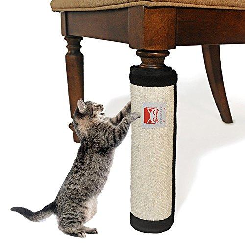 MKUTO 猫 つめとぎ どこでも爪とぎマット 爪とぎ ネコ 猫用 44x30cm 天然サイザル麻 家具保護 マジックテー...