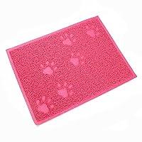 Felicely プレミアム猫砂取りマット 猫砂飛び散り防止 簡単クリーニング 滑り止め機能 室内をキレイに保つ砂取りマット 長方形 30*40cm×0.5cm (ピンク)