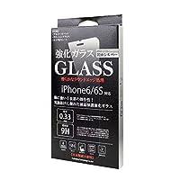 「iPhone6S/6」液晶保護強化ガラスフィルム 国産ガラス採用 硬度9H 0.33mm 2.5D ラウンドエッジ加工 指紋防止 飛散防止処理 (鏡面シルバー)