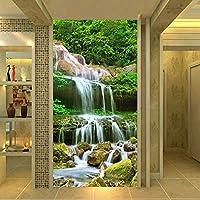Mingld カスタム写真の壁紙3D滝森林自然風景壁画リビングルームホテル入り口背景壁絵画家の装飾-150X120Cm