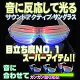光るサウンドアクティブシャッターサングラス【音に合わせて光る!!】ピカピカLED