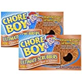 (2 Pack) - Chore Boy Copper Scouring Pad 4 Count