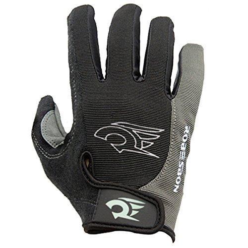 FREESE(フリーゼ) サイクルグローブ 衝撃吸収パット 高グリップ 自転車手袋 メンズ サイクリング ケースセット(XL, グレー)