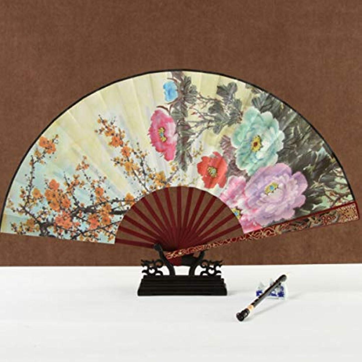 マリナー口ひげ基本的なKATH ライスペーパー扇子、中国のスタイルのギフトアートファン、大ファン、