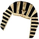 Baoblaze Egyptian Pharaoh Costume Hat Mens Black Gold King Tut Headwear Photo Prop