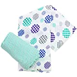 Plum Collections Pattern Cotton Muslin Squares Swaddle Wraps Spots Design (Pack of 2, X-Large) by Plum Collection [並行輸入品]