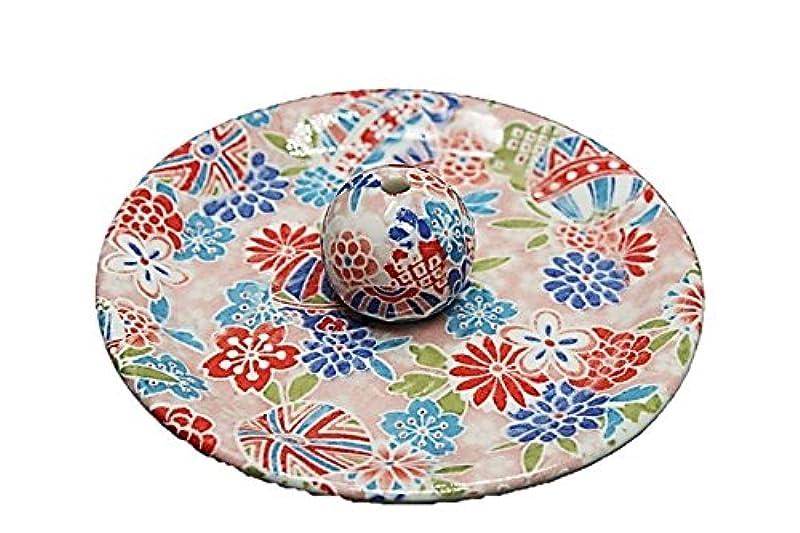 シャックル添加剤クレア9-8 京雅桃 9cm香皿 お香たて 陶器 お香立 製造?直売品