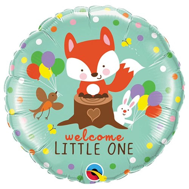 Qualatex 18 Inch Round Foil Balloon - Welcome Little Fox & Friends