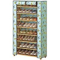 靴ラック8層多機能家庭用経済靴キャビネットオックスフォード布のドアの靴のキャビネット90cm