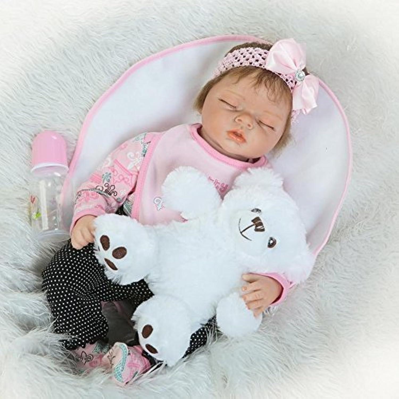 Dollshow 22インチMommy 's Baby Girl Sleeping Newborn Doll Collectibleビニール赤ちゃんReborn 55 cm