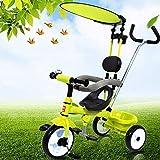 子供の三輪車 3 1子供の手プッシュ三輪車12ヶ月から6年子供用ペダル三輪車調節可能なハンドルバー子供三輪車最大重量30 Kg 三輪車 おりたたみ 持ち運び (色 : B)