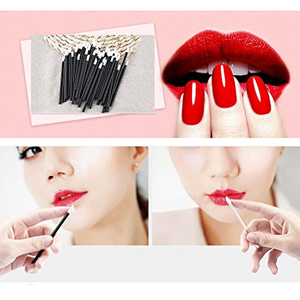 分析的マーチャンダイジング助けになるWomen Accessories 100 PCS Disposable Lip Brush Wholesale Gloss Wands Applicator Perfect Best Make Up Tool HS