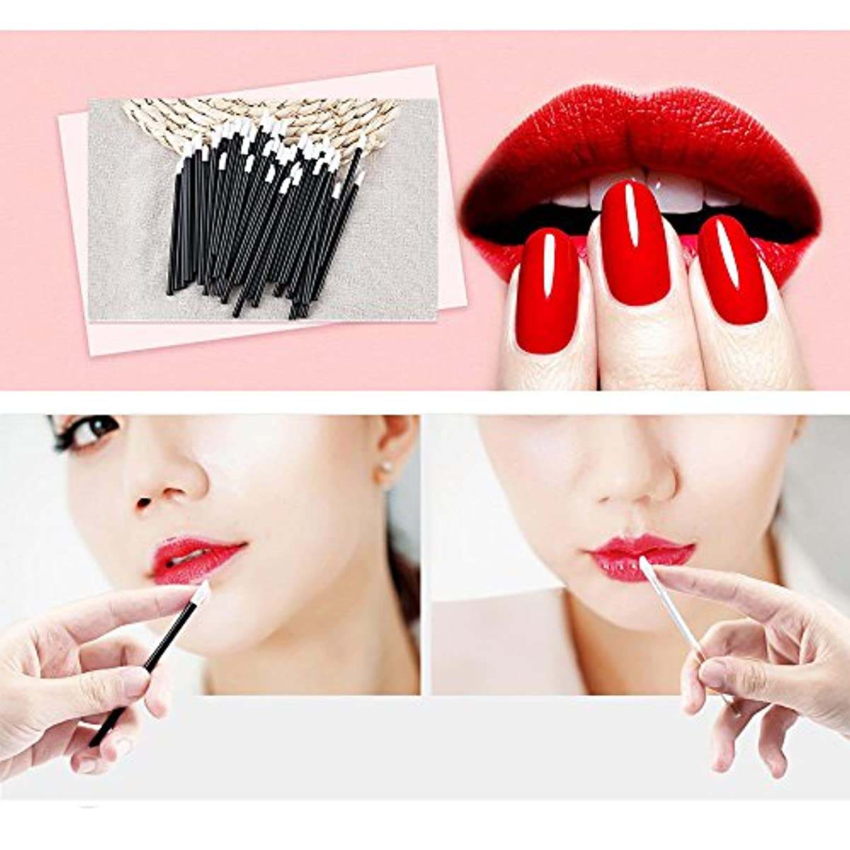 実現可能アカウント軽食Women Accessories 100 PCS Disposable Lip Brush Wholesale Gloss Wands Applicator Perfect Best Make Up Tool HS