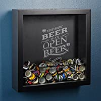BestビールPersonalizedボトルキャップシャドウボックスby HomeWetBar – Perfect for Beer Lovers