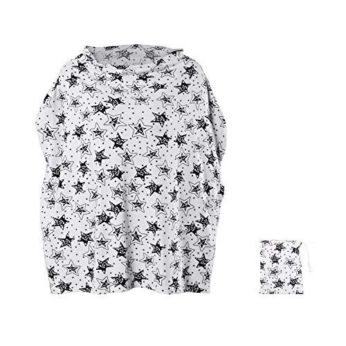 wipalo 授乳ケープ 授乳カバー ベビーカーカバー 伸縮自在 ポンチョ型 大きめサイズ 通気性抜群 多機能 360度安心 お出かけ用 出産祝い 収納袋付き