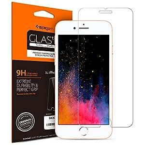 【Spigen】iPhone8 Plus ガラスフィルム / iPhone7 Plus ガラスフィルム, [ 液晶保護 ] [ 9H硬度 ] [ Rラウンド 加工 ] [ 3D Touch対応 ] GLAS.tR SLIM アイフォン 8 プラス / 7 プラス 用 強化ガラス液晶保護フィルム (iPhone8 Plus / iPhone7 Plus, GLAS.tR SLIM (1枚入))