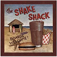 Shake Shack by David Carter Brown–10x 10インチ–アートプリントポスター LE_480531-F10483-10x10