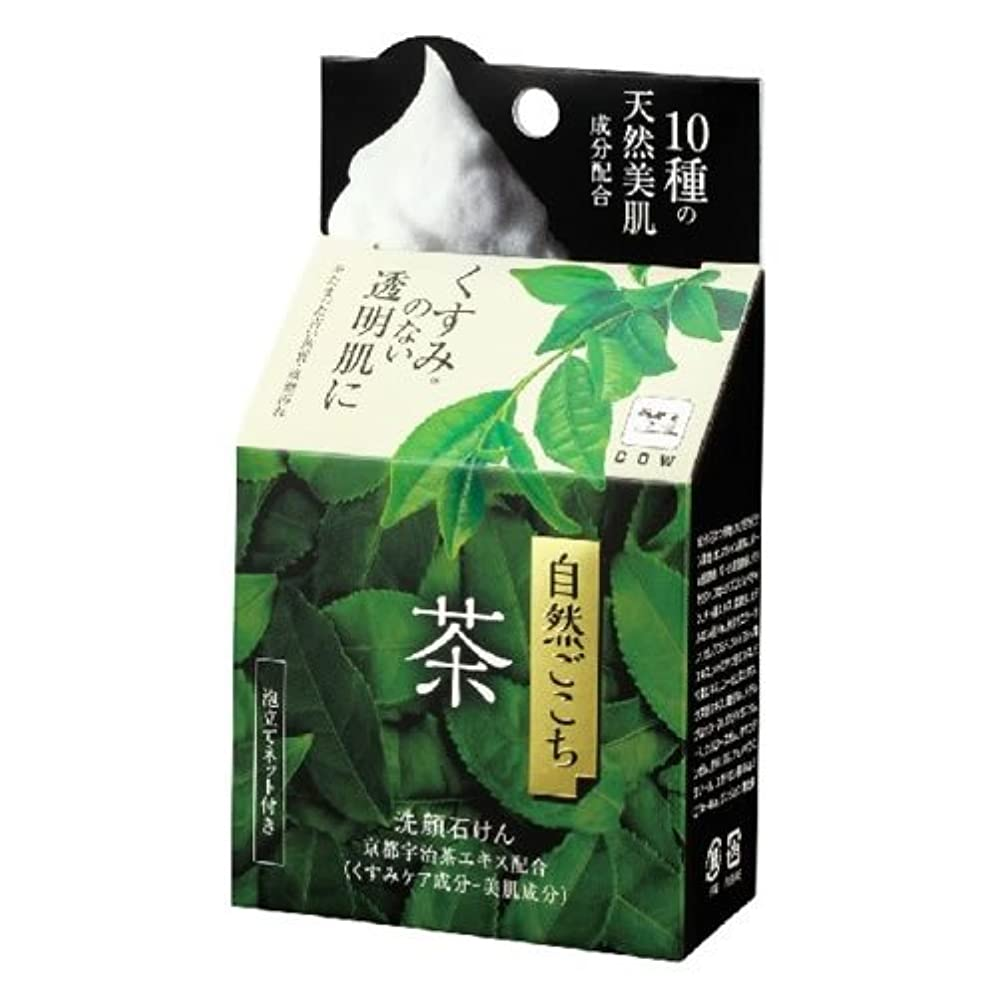 リー油ピーク牛乳石鹸共進社 自然ごこち 茶 洗顔石けん 80g (お茶エキス配合洗顔せっけん) ×48点セット (4901525002288)
