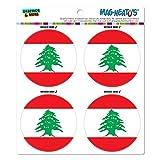 レバノン国立国旗 MAG-格好いい'S(TM)カー/冷蔵庫マグネットセット