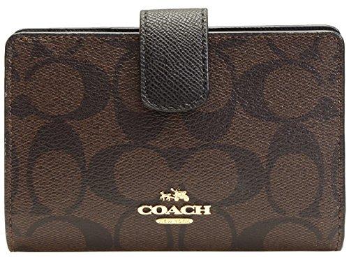 [コーチ] COACH 財布(二つ折り財布) F54023 ブラウン×ブラック ラグジュアリー シグネチャー PVC ミディアム コーナー ジップ ウォレット レディース [アウトレット品] [ブランド] [並行輸入品]