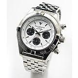 [アイザックバレンチノ]Izax Valentino 腕時計 クロノグラフ ホワイト IVG-8000-4 メンズ
