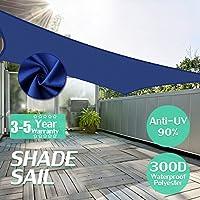 KING DO WAY 95%UVカット サンシェード 日除け シェード #高品質ナイロン 160g 長方形ブルー300D 300x500cm