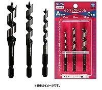 STAR-M No.7S 3本セット 7S-S060 インパクトビットショート 6mmセット スターエム