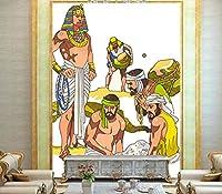 Yosot 壁 3d のカスタムの壁紙に設定するには、古代エジプトの壁画の大きな壁画、ホテル livng ルームテレビウォールベッドルームの壁紙の図-140cmx100cm