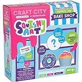 Craft City Karina Garcia DIYスクイーズアート:Bake Shop | 自分だけのカップケーキ&ドーナツスクイッシーおもちゃ | 神秘的な形状 | 3つのスクイーズおもちゃを作成