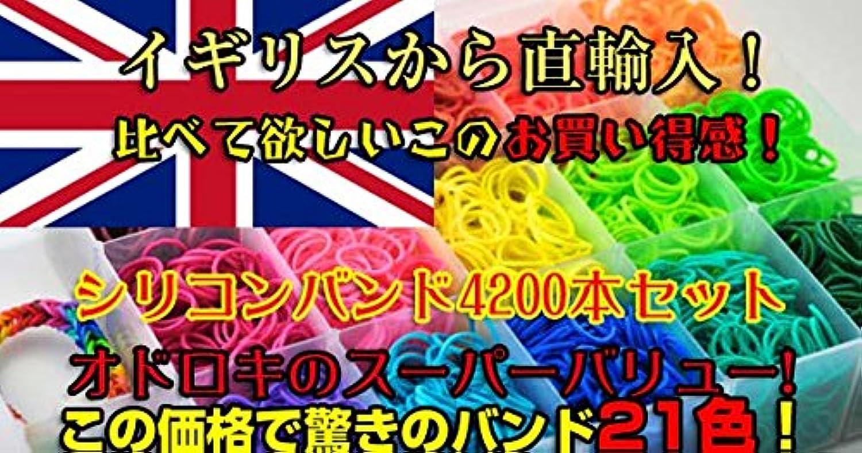 LOOM BANDS ルームバンド 4200本セット 21色のシリコンバンド [並行輸入品]