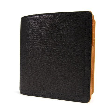 [ポーター] PORTER DOUBLE ダブル フラップ 二つ折り財布 129-06012(ブラック×オレンジ)