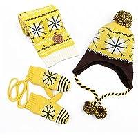 HI9 Shop 子供用ニット帽+マフラー+ 手袋3 点セット 防寒 冬 ベビー 男女兼用
