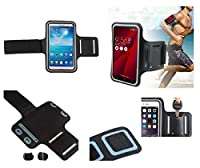DFV mobile - Armband Professional Cover Neoprene Waterproof Wraparound Sport with Buckle for => ACER LIQUID Z530S (2015) > Black