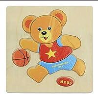 キッズ 子供 知育 玩具 トレーニング 干支パズル 木製 パズル 大きい 動物 アニマル おもちゃ 熊 クマ くま ①
