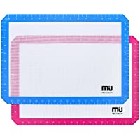 MIU colour Silicone Baking Mat, Non Stick Silicone Liner for Cookie Sheets, Professional FDA Approved Cooking Mat, 2 pack