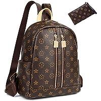 Casual Purse Fashion School Leather Backpack Crossbady Shoulder Bag Mini Backpack for Women & Teenage Girls Black BROEN