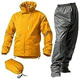 マックレインウェア(MAKKU RAIN WEAR)  DUAL ONE (デュアルワン) 耐久防水レインスーツ ウエア:マットイエロー/パンツ:グレー LL AS-8000