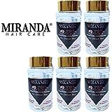 MIRANDA ミランダ Hair Multivitamin&Nutrients ヘアマルチビタミン ニュートリエンツ 洗い流さないヘアトリートメント 30粒入ボトル×5個セット Coconut oil ココナッツオイル...