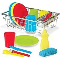 Melissa & Doug Let's Play House! Wash and Dry Dish Set [並行輸入品]
